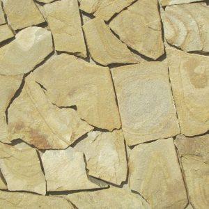 Натуральный камень - ПЕСЧАНИК (1,5см) желто-коричневый с разводами