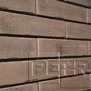 Камень из бетона - Клинкерный кирпич. Темно-коричневый 14П4