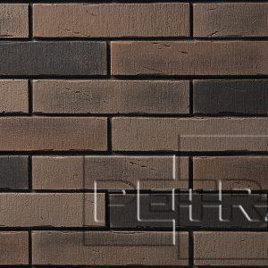 Камень из бетона - Клинкерный кирпич. Темно-коричневый, графит 14П5