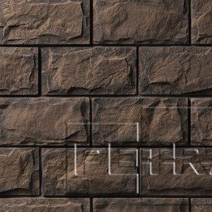 Камень из бетона - Афины. Темно-коричневый, графит 13П5